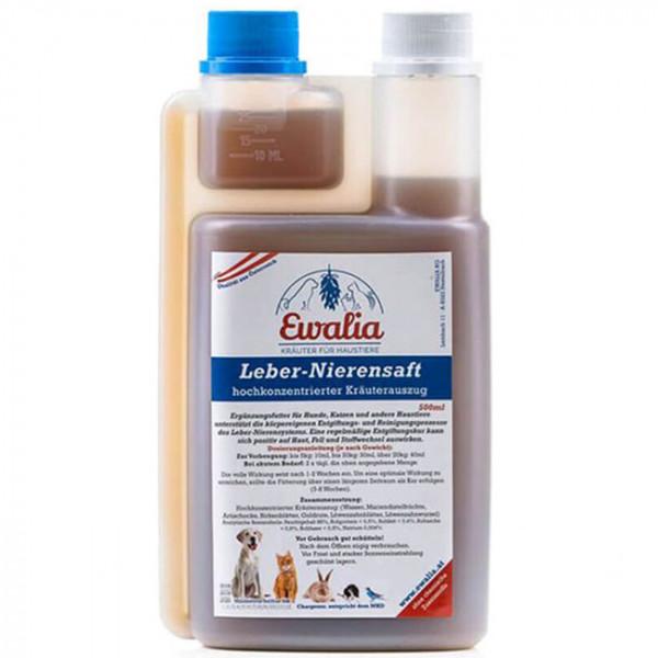 Ewalia Leber-Nierensaft für Haustiere 500 ml
