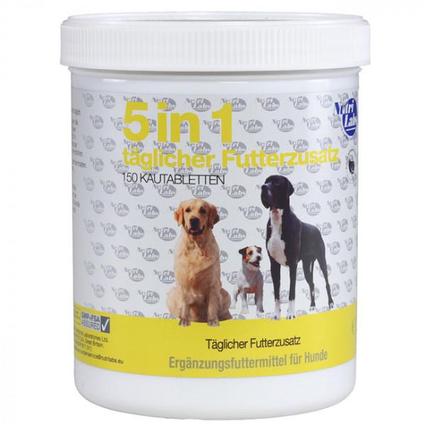 NutriLabs 5in1 Hund täglicher Futterzusatz 150 Kautabletten