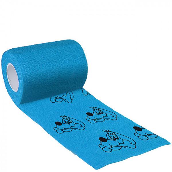 Binde Bandage 5cm x 4,5m, Bandage blau Hund