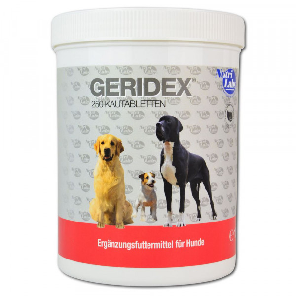 Geridex 250 Kautabletten für Hundesenioren